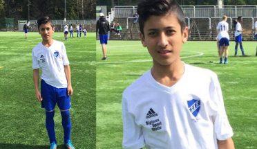سیف الرحمن کو سویڈن کی جونیئر فٹ بال اکیڈمی نے منتخب کرلیا
