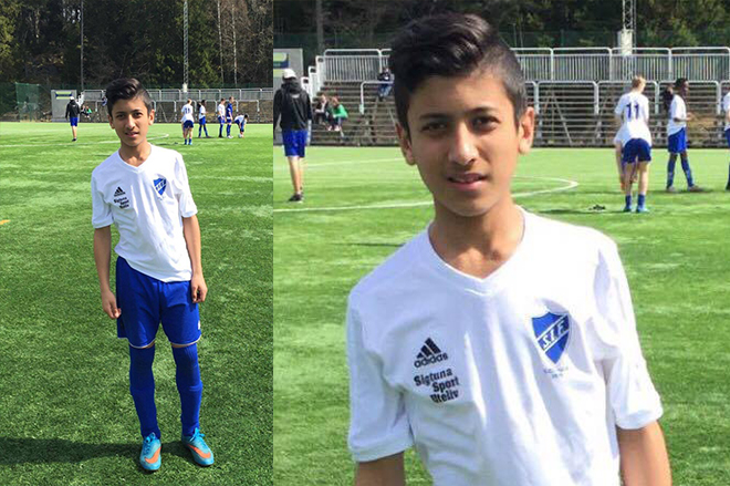 Saif Rahman was selected for the junior football academy Sweden