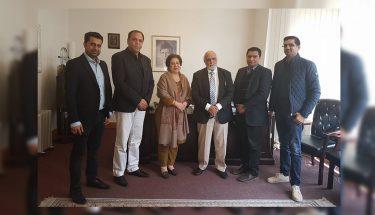 ناروے:  ہارون رشید اور ادارہ سکون کی پاکستانی سفیر سے ملاقات