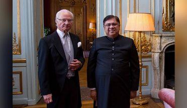 سفیر پاکستان کی سویڈن کے بادشاہ سے ملاقات