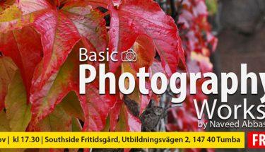 اسٹاک ہوم میں فوٹوگرافی  کی تربیتی ورکشاپ کا انعقاد