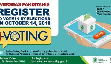 ضمنی انتخابات میں ووٹ ڈالنے کیلئے اوور سیز پاکستانیوں کی رجسٹریشن کا آغاز