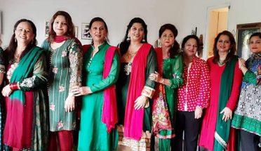 اسٹاک ہوم کے نواحی علاقے فتیا میں خواتین نے جشن مسرت منایا