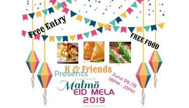 سویڈن کے شہر مالمو میں عید میلہ 2019