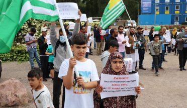 فن لینڈ میں انڈیا ڈے کے دوران بھرپور احتجاجی مظاہرہ
