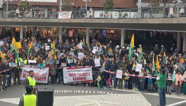 اسٹاک ہوم: کشمیر میں بھارتی پالیسیوں کے خلاف احتجاج