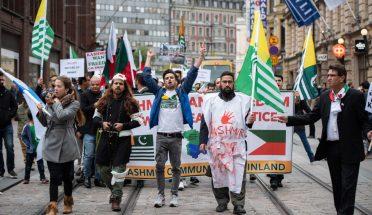 فن لینڈ میں کشمیر فریڈم مارچ فضاء آزادی کے نعروں سے گونج اٹھی