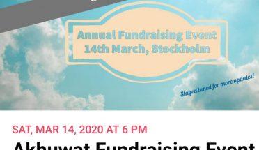 اخوت سویڈن، 14 مارچ بروز ہفتہ سٹاک ہوم