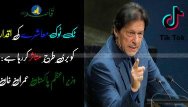 ٹِک ٹوک معاشرے کی اقدار کو بری طرح متاثر کررہا ہے: وزیرِ اعظم پاکستان عمران خان