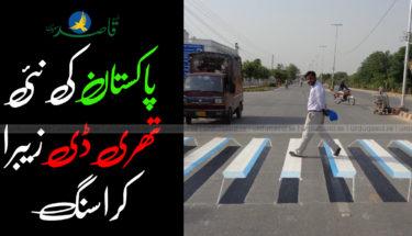 پاکستان کی نئی تھری ڈی زیبرا کراسنگ